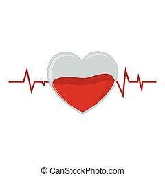 Crystal Heart Puls Blutspende.