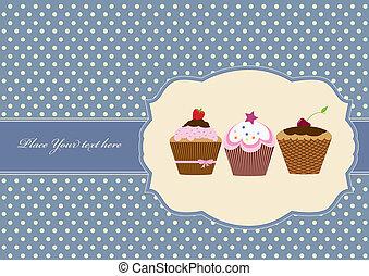 Cup-Kuchen-Torte-Gemäldedesign