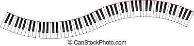 Curved Piano Tastatur.