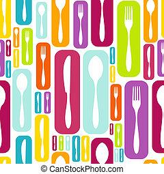 Cutlery Silhouette-Ikonenmuster-Hintergrund