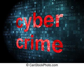 cyber, verbrechen, schutz, hintergrund, digital, concept: