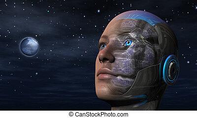 Cyborg-Frau - Humanoid.