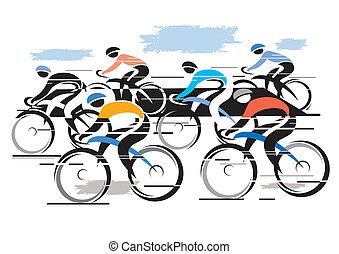 Cycle Race Peleton.