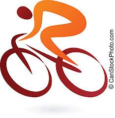 Cyclist Icon - Vektorgrafik.