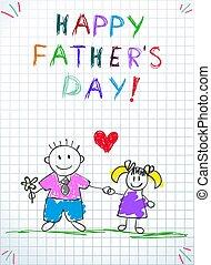 Dad mit Tochter glücklichen Vätern Tag Grußkarte