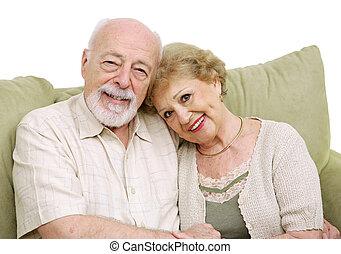 daheim, ältere paare