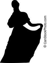dame, silhouette