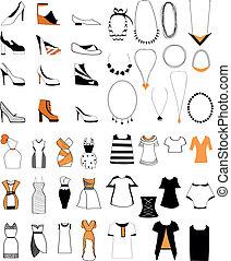 Damenmode-Schuh-Halskette.