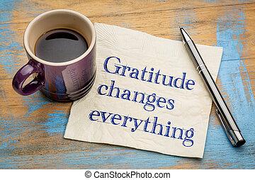 Dankbarkeit verändert alles.