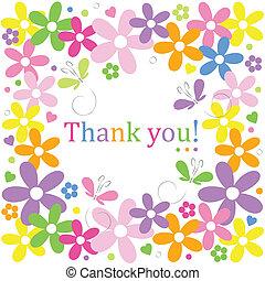 Danke für die Blumen.