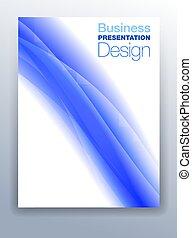 Dark blue business presentation design background.