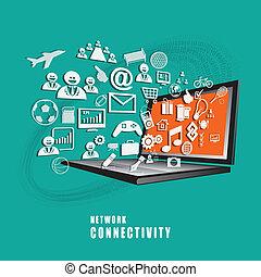 Das Absract des Netzwerk-Connectivity Concept Vektors.