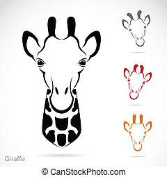 Das Bild eines Giraffenkopfes.