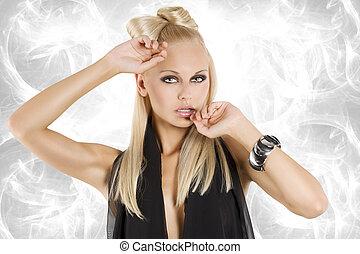 Das blonde Mädchenfoto