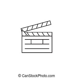 Das Clapper Board Line Icon.