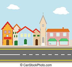 Das Dorf auf der Straße