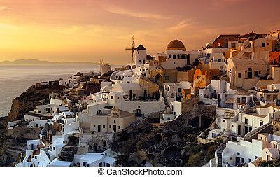 Das Dorf Oia, Santorini, Griees