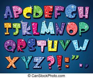 Das funkelnde Alphabet
