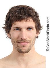 Das Gesicht eines attraktiven Mannes.