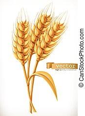Das Getreide. 3-D-Vektor-Icon