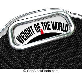 Das Gewicht des Weltmaßes belasten die Worte
