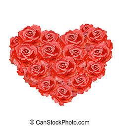 Das Herz der Rosen ist für dein Design isoliert