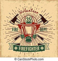 Das ist ein Brandschutz-Label.