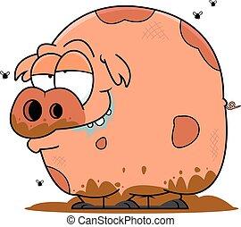 Das ist ein Comic-Schwein.