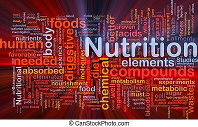Das Konzept der Ernährungsgesundheit leuchtet