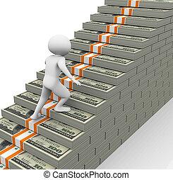 Das Konzept des Einkommens wächst