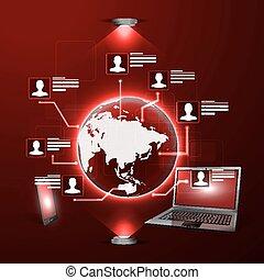 Das Konzept des sozialen Netzwerks.