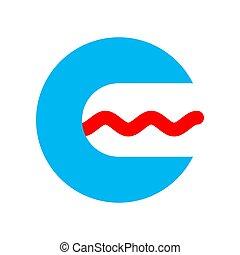 Das Logo der Buchtherapeutin. Sprachpathologe Symbol. Mund und Zunge öffnen