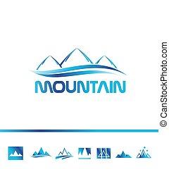Das Logo des Bergtourismus.
