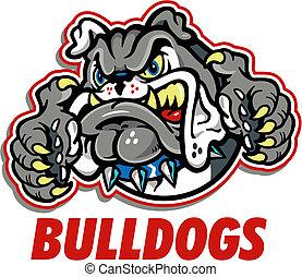 Das Maskottchen der Bulldogs.