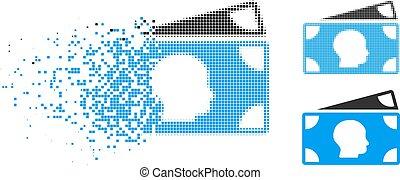 Das Pixel-Halbton-Symbol wird zerstört