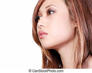 Das Profil einer asiatischen Frau