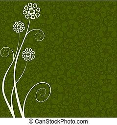 Das Recycling-Blumen-Konzept