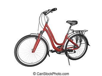 Das rote Rad ist geölt