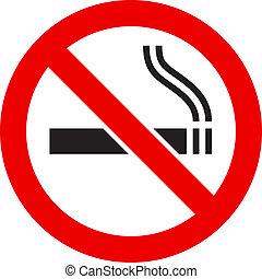 Das Schild: Rauchen verboten