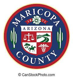 Das Siegel von Maricopa County, State Arizona (Phoenix)