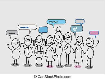 Das soziale Netzwerk der Menschen