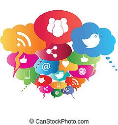 Das soziale Netzwerk symbolisiert