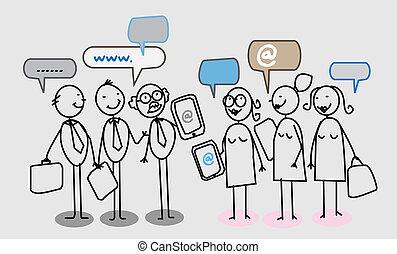 Das soziale Netzwerk von Geschäftsleuten.