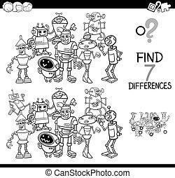 Das Spiel mit Roboterfarbenbuch.