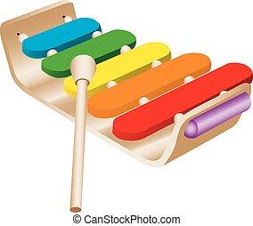 Das Spielzeug-Xylophon des Kindes