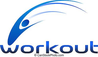 Das Training hat ein Woo-Logo