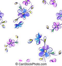 Das weiße Muster mit Blumen.