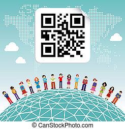 Das weltweite Netzwerk der sozialen Medien
