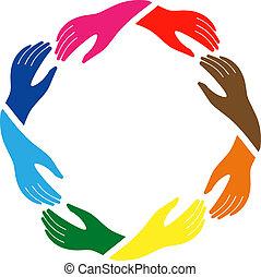 Das Zeichen von Frieden und Freundschaft