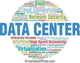 Datenzentrale IT-Technologie-Wort-Tage